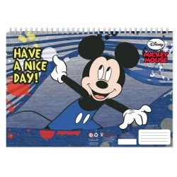 Diakakis imports Mickey Mouse Μπλοκ Ζωγραφικής 40 Φύλλα με Αυτοκόλλητα - 2 Σχέδια 000562229 5205698420863