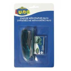 LUNA OFFICE Stapler With Staples No10 0610039 5205698074257