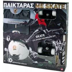 As company Λαμπάδα Παικταράς Μαύρος με Φανέλα, Μπάλα και Skateboard (15674) 1500-15674 5203068156749
