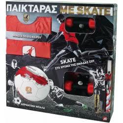 As company Λαμπάδα Παικταράς Κόκκινος με Φανέλα, Μπάλα και Skateboard (15671) 1500-15671 5203068156718