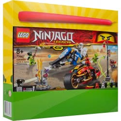LEGO Λαμπάδα Ninjago Δίτροχο με Λεπίδες του Κάι και Όχημα Χιονιού του Ζέιν 70667