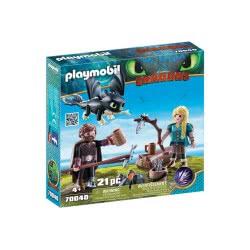 Playmobil Dragons Ο Ψάρης και η Άστριντ με ένα Δρακούλη 70040 4008789700407