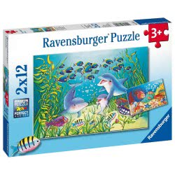 Ravensburger Παζλ 2x12 τεμ. Στον Βυθό 7625 4005556076253