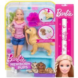 Mattel Λαμπάδα Barbie και τα Νεογέννητα Κουταβάκια FDD43