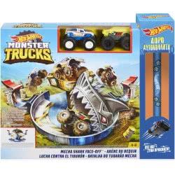 Mattel Easter Candle Hot Wheels Monster Trucks Mecha Shark Face-Off Play Set FYK14