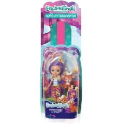 Mattel Λαμπάδα Enchantimals Κούκλα και Ζωάκι Φιλαράκι, Νέοι Φίλοι - 7 Σχέδια FNH22