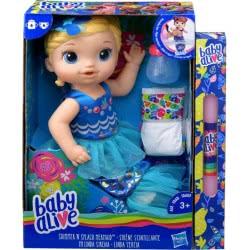 Hasbro Λαμπάδα Baby Alive Shimmer And Splash Mermaid Ξανθό Μωράκι Γοργόνα E3693 3693