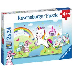 Ravensburger 2X24 Pcs Puzzle Magical Unicorn 7828 4005556078288