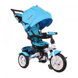 Lorelli Ποδηλατάκι Τρίκυκλο Neo Air Light Blue Με Ρόδες Από Λάστιχο 1005034 0006 3800151960676