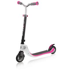 Globber Flow 125 Foldable Scooter - White/Pink 473-162 4897070183896