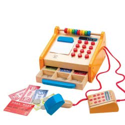 Hape Checkout Register - Η Πρώτη Μου Ξύλινη Ταμειακή Μηχανή - 37 Τεμ. E3121B 6943478004467