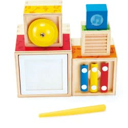 Hape Early Melodies Ξύλινο Stacking Music Set E0336A 6943478019010