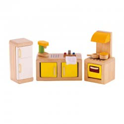 Hape Happy Family Wooden Kitchen 7 Pieces E3453 6943478004511