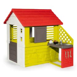 Smoby Nature Playhouse With Kitchen 7/810713 3032168107137