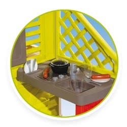 Smoby Nature Playhouse Με Κουζίνα 7/810713 3032168107137