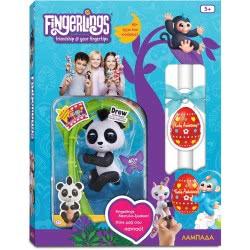 Λαμπάδα Wowwee Fingerlings Glitter Baby Panda Drew - Μαύρο 151324 / Black