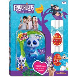 Easter Candle Wowwee Fingerlings Glitter Baby Panda Archie - Blue 151324 / Blue