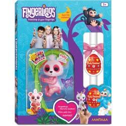 Λαμπάδα Wowwee Fingerlings Glitter Baby Panda Polly - Ροζ 151324 / Pink 151324