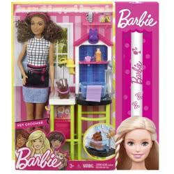 Mattel Λαμπάδα Barbie Pet Groomer Σετ Παιχνιδιού DHB63 / FJB31