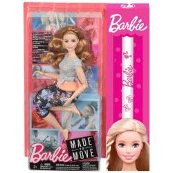 Mattel Λαμπάδα Barbie Αμέτρητες Κινήσεις - Κούκλα Με Καμπύλες Και Καστανά Μαλλιά FTG80 / FTG84