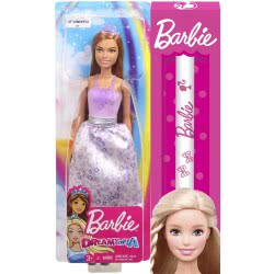 Mattel Λαμπάδα Barbie Dreamtopia Πριγκίπισσα Καστανή FXT13 / FXT15