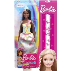 Mattel Λαμπάδα Barbie Dreamtopia Πριγκίπισσα Μελαχρινή FXT13 / FXT16