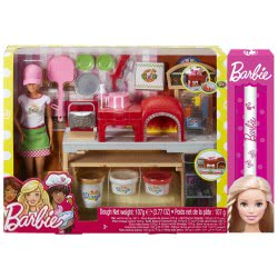 Mattel Λαμπάδα Barbie Σεφ - Εργαστήριο Πίτσας FHR09