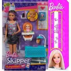 Mattel Λαμπάδα Barbie Σκίπερ Babysitter - Μια Μέρα Με Το Μωρό FHY98