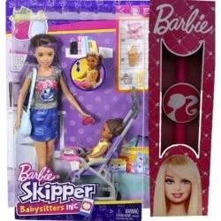 Mattel Λαμπάδα Barbie Σκίπερ Babysitter - Βόλτα Με Το Μωρό FJB00