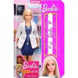Mattel Λαμπάδα Barbie Επαγγέλματα - Γιατρός Κούκλα FXP00