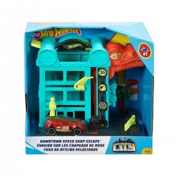 Mattel Hot Wheels City Βασικές Πίστες: Downtown Speed Shop Escape FRH28 / GFY69 887961773446