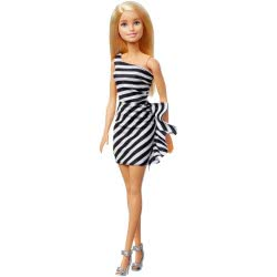 Mattel Barbie 60 Years - Wearing Black And White Striped Party Dress GJF85 887961810196