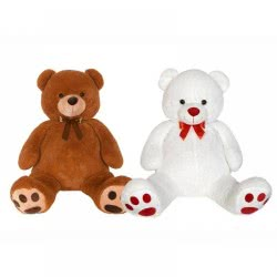 Christakopoulos Big Bear Plush 130 Εκ. - 2 Colours (Brown, White) 2890 5212007552337