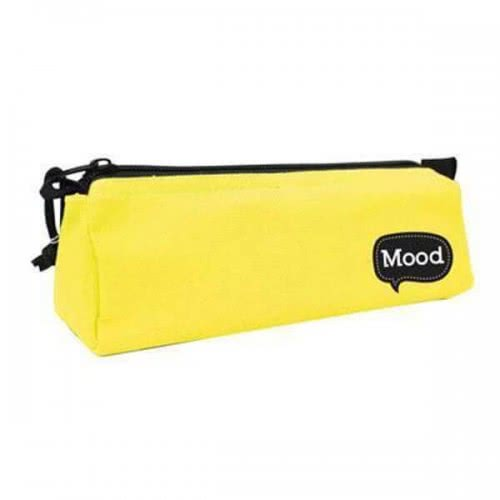 Diakakis imports School Pencil Case Yellow With Zipper Mood Chrome 0580159 5205698150807