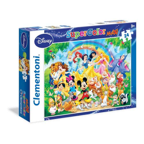 Clementoni Παζλ 24 Maxi Super Color Disney - Οικογένεια Disney 1200-24473 8005125244737