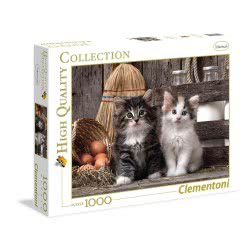 Clementoni Puzzle 1000 H.Q. Lovely Kittens 1220-39340 8005125393404
