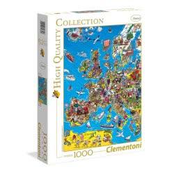 Clementoni Παζλ 1000 H.Q. Χάρτης Της Ευρώπης 1220-39384 8005125393848
