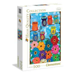 Clementoni Puzzle 500 H.Q. Cute Little Owls 1220-35024 8005125350247