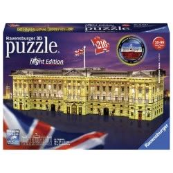Ravensburger 3D Παζλ Night Edition 216 Τεμ. Παλάτι Του Μπάκιγχαμ 12529 4005556125296