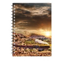 MUST Spiral Notebook Travel 4 Subjects 128 Sheets - 4 Designs 000042065 5205698437588