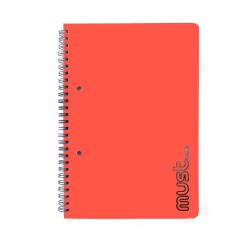 MUST Craft Metal Spiral Notebook 3 Subjects 96 Sheets - 4 Colours 000579458 5205698405679