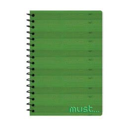 MUST Spiral Notebook 2 Subjects 64 Sheets - 3 Designs 000579454 5205698405631