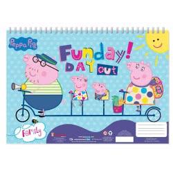 Diakakis imports Peppa Pig Μπλοκ Ζωγραφικής 40 Φύλλα Με Αυτοκόλλητα - 2 Σχέδια 000482440 5205698420924