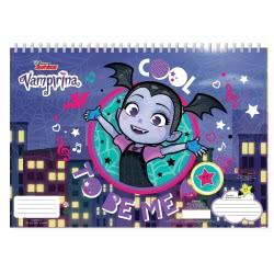 Diakakis imports Vampirina Μπλοκ Ζωγραφικής 40 Φύλλα Με Αυτοκόλλητα - 2 Σχέδια 000562349 5205698447761
