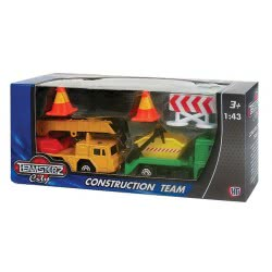 As company ΟΧΗΜΑΤΑ CONSTRUCTION TEAM 1:43 TEAMSTERZ 7535-72244 5050837224419