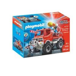 Playmobil City Action Όχημα Πυροσβεστικής Με Τροχαλία Ρυμούλκησης 9466 4008789094667