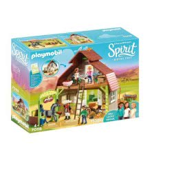 Playmobil Spirit Riding Free Barn With Lucky, Pru & Abigail 70118 4008789701183