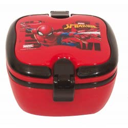 GIM Spiderman Lunch Box With Handles For Use In Microwave Oven 557-39266 5204549117211