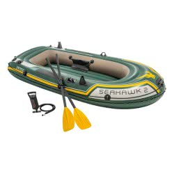 INTEX Seahawk 2 Boat Set - With Oars And Inflator 68347 6941057463476