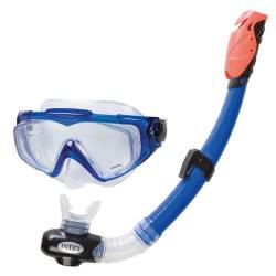 INTEX Silicone Aqua Pro Swim Set - Επαγγελματικό Σετ Μάσκας Και Αναπνευστήρα Από Σιλικόνη 55962 6941057403496